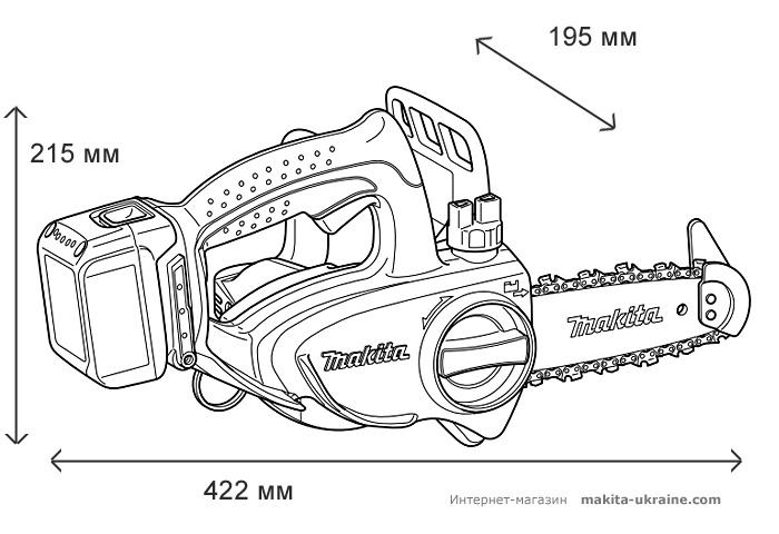 Аккумуляторная цепная пила MAKITA DUC122RFE