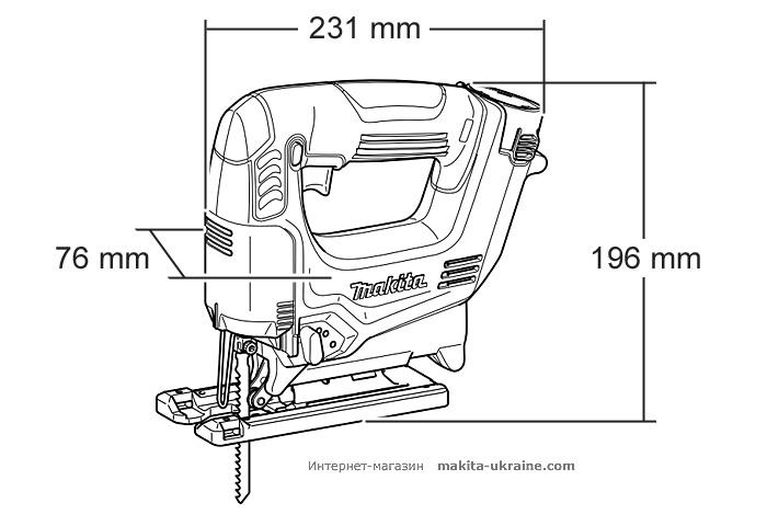 Аккумуляторный лобзик MAKITA JV100DZ