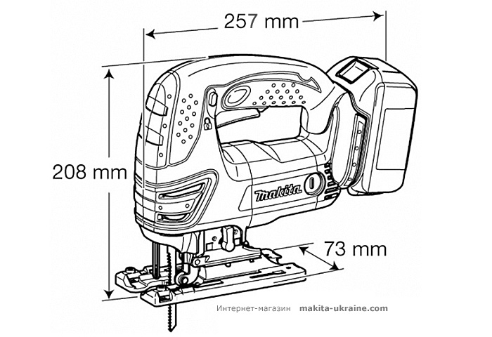Аккумуляторный лобзик MAKITA DJV180Z