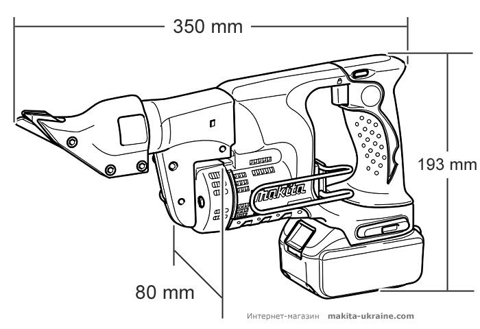 Аккумуляторные ножницы по металлу MAKITA BJS130RFE