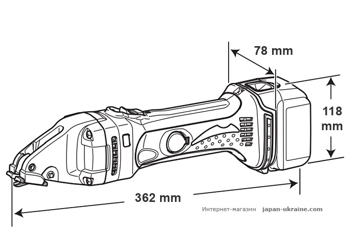 Аккумуляторные ножницы по металлу MAKITA DJS161Z