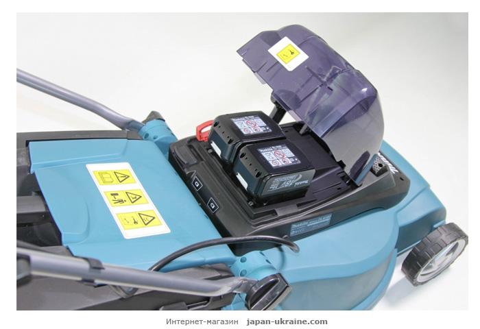 Аккумуляторная газонокосилка MAKITA SOFA-DLM380Z + ламзак