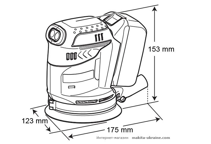 Аккумуляторная эксцентриковая шлифмашина MAKITA DBO180Z