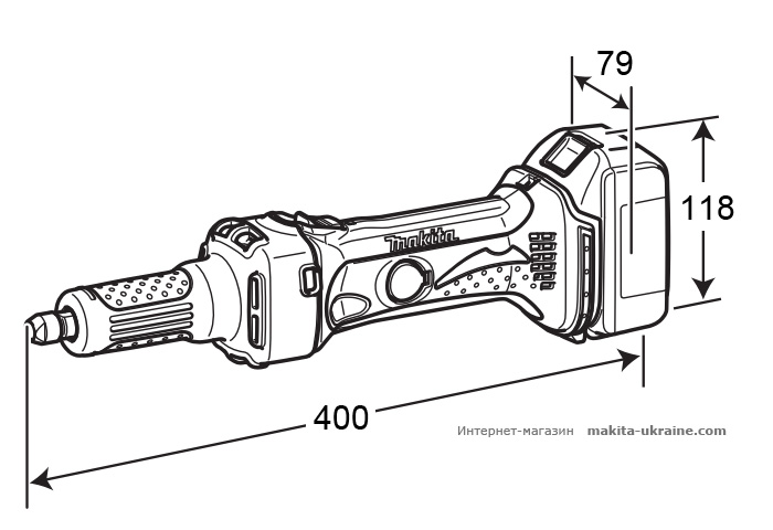 Аккумуляторная прямая шлифмашина MAKITA DGD800Z
