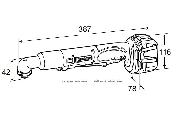 Аккумуляторный угловой шуруповерт MAKITA DTL061RFE
