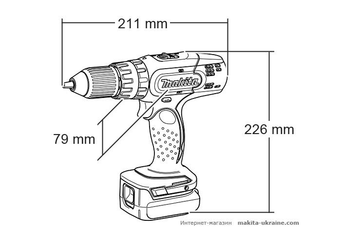 Аккумуляторный ударный шуруповерт MAKITA DHP343SYE