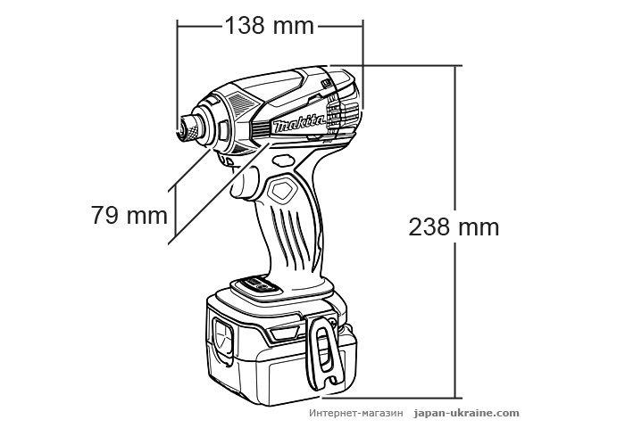 Аккумуляторный ударный шуруповерт MAKITA DTD146RFJ