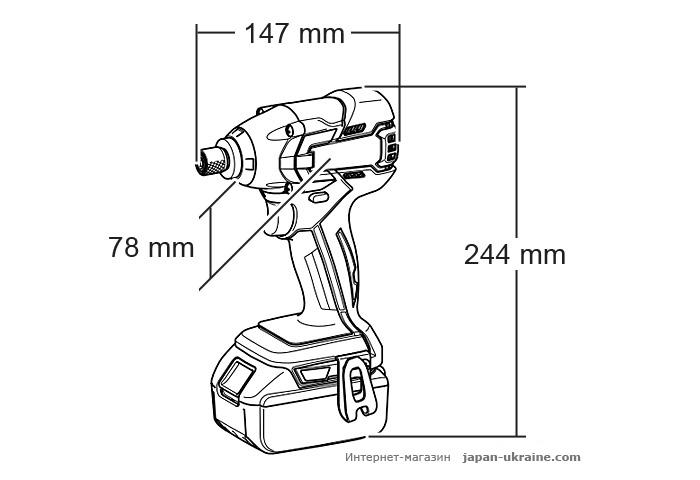 Аккумуляторный ударный шуруповерт MAKITA DTD129Z