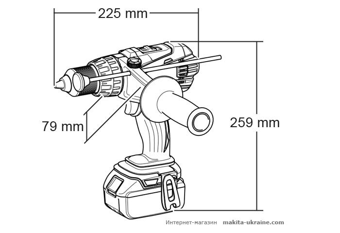 Аккумуляторный ударный шуруповерт MAKITA BHP458RFJ