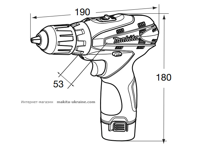 Аккумуляторный шуруповерт MAKITA DF330DWEMR051