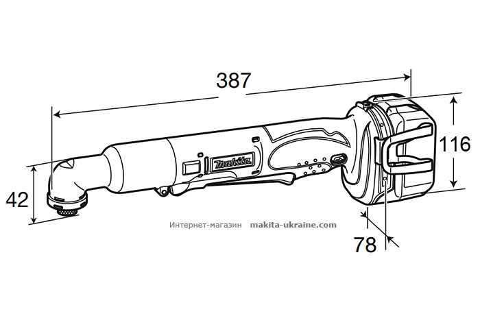 Аккумуляторный ударный шуруповерт MAKITA DTL060Z