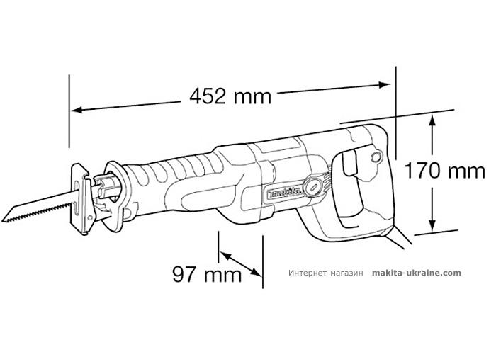 Сабельная пила (ножовка) MAKITA JR3050T