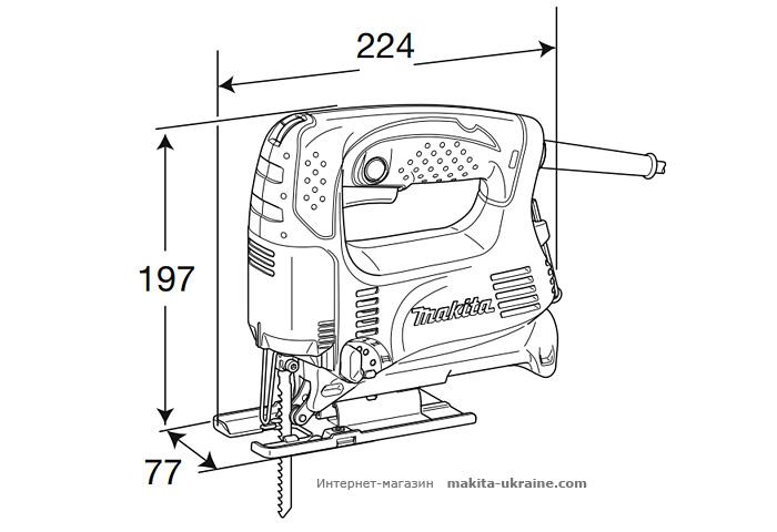 Лобзик MAKITA 4326 + CL070DS