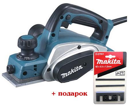 Рубанок MAKITA KP0800 + комплект ножей D-07951 в подарок!