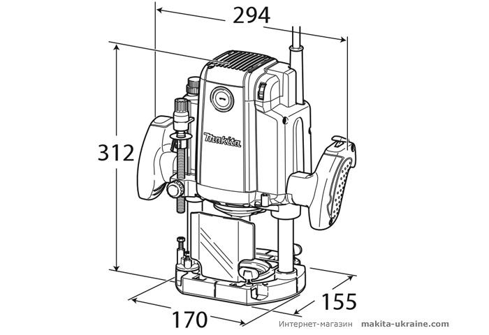 Фрезер MAKITA RP2300FCX + комплект фрез A-87921