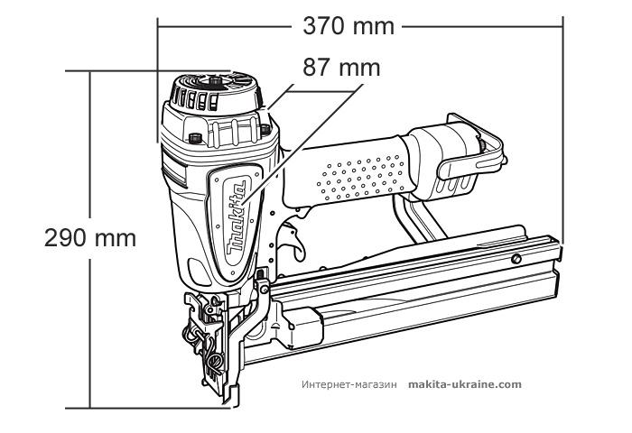 Пневматический степлер MAKITA AT1150A
