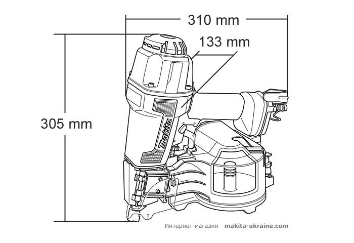 Гвоздезабивной пистолет барабанного типа MAKITA AN621