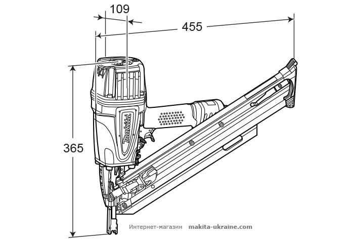 Гвоздезабивной пистолет MAKITA AN943K